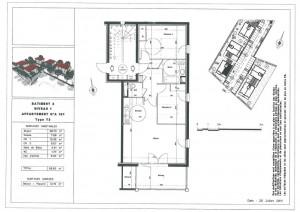 Appartements neufs Varces T3 plan