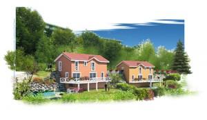 maisons neuves sur les hauteurs de voiron
